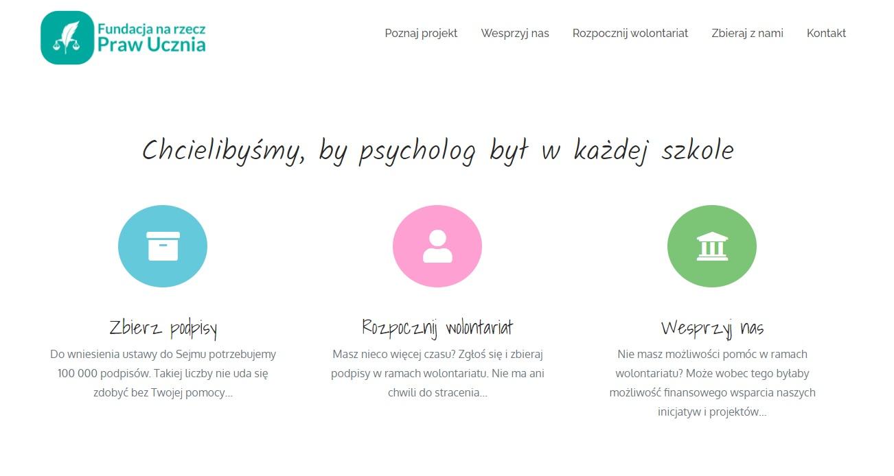 """""""Chcielibyśmy, by psycholog był w każdej szkole"""""""